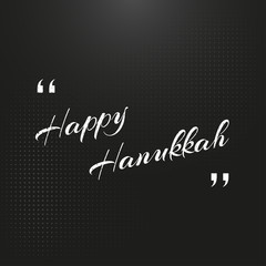 Happy Hanukkah day on a black background