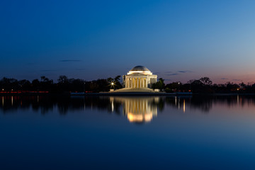 Fotomurales - Jefferson Memorial at Night
