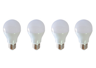 Modern LED light bulb (lamp) Isolated on white, ECO energy conce