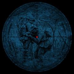 Sniper scope. Night vision.illustration