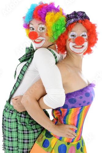 Clowns in kost m zu karneval fasching oder fastnacht for Clown schminken bilder