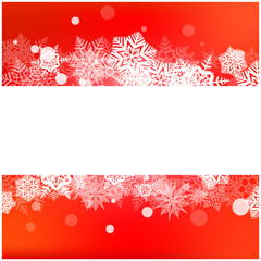 Christmas vector snowflake background for card. Snowfall illustration wallpaper.