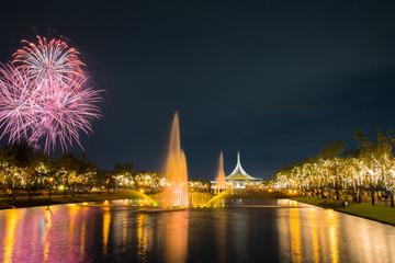 Firework in KING RAMA 9 park.