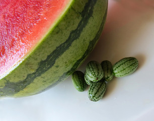 Cucamelon with watermelon
