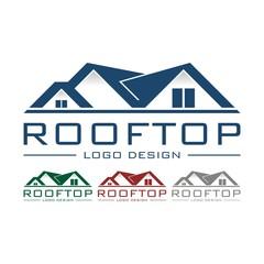 Rooftop Logo Design Vector
