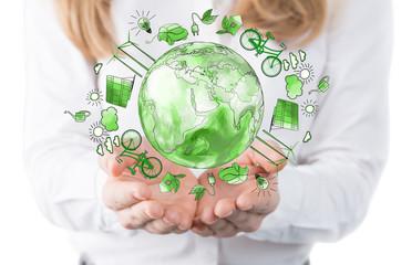 Fototapeta clean environment, eco renewable energy obraz