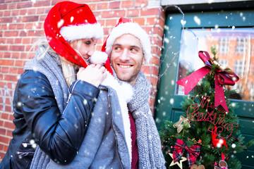 Weihnachten zusammen spaß Paar