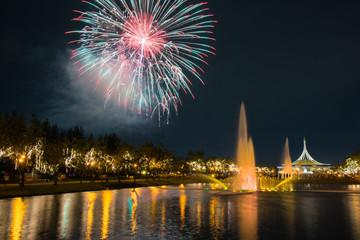 Fireworks in KING RAMA 9 park