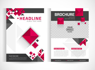 Brochure design A4 template place for pictures. Vector illustration. Business Brochure place for pictures design. magazine cover.