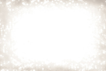 Christmas sparkling silver background with white space on the middle