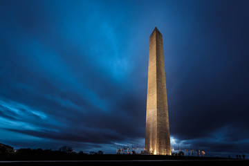 Washington Monument at Night Fototapete