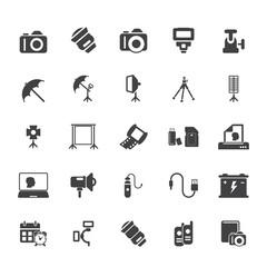 Photo equipment icons
