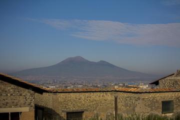 view of vesuvius from Castellammare di stabia