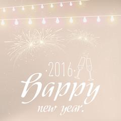 Happy New Year Sektgläser
