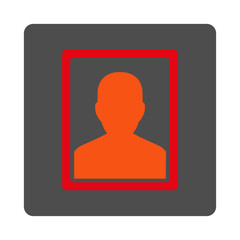 Sickness Portrait Rounded Square Button