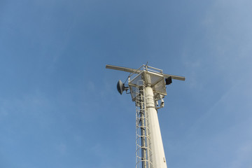 radar antenna in construction site