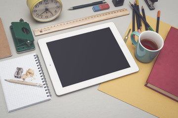 Creative or artistic tablet pc mockup