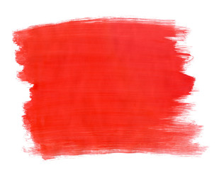 A fragment of the scarlet background painted with gouache