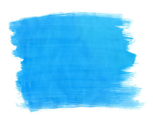 A fragment of the azure background painted with gouache