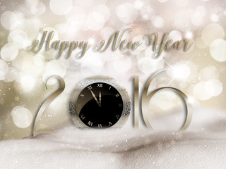 Happy New Year snow background