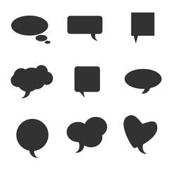 speech bubble pointer vector silhouette