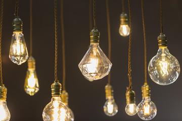 LED light bulb hang from ceiling