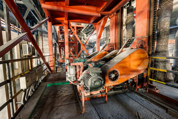 Industrial motor driven equipment scene in steel mill