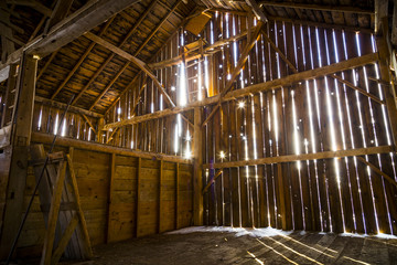 Interior of a Rustic Old Barn
