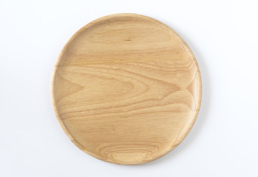 Wooden disk top view