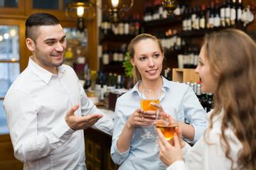 Restaurant guests at tavern