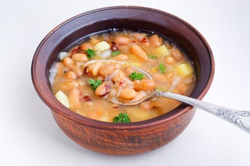 soup with beans and vegetables