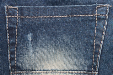 Denim Closeup : texture background of pockets jeans.
