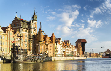 Photo sur Aluminium Artistique Cityscape of Gdansk in Poland