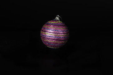 Striped Christmas ball decoration