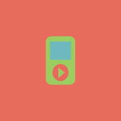 MP3 player flat icon
