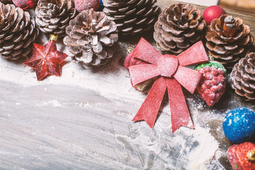 Beautiful decorated Christmas background.