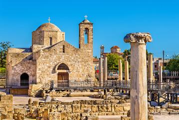 Photo sur Aluminium Chypre Panagia Chrysopolitissa Basilica in Paphos - Cyprus