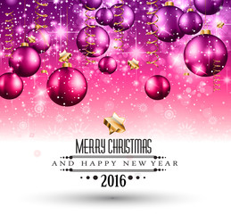 2016 Happy New Year Background for Seasonal Greetings Card