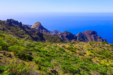 Mountains on Tenerife Island in Spain