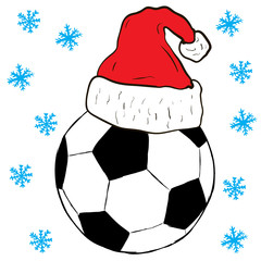 Christmas football in a cap