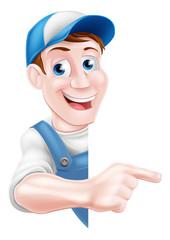 Pointing Cartoon Man