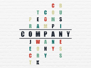 Business concept: Company in Crossword Puzzle