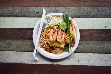 Pad Thai food of thailand