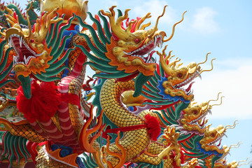 colorful dragon statue background