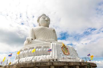 Big Buddha monument on island of Phuket in Thailand. Formal name is  Pra Puttamingmongkol Akenakkiri