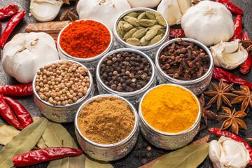 カレースパイスの集合写真 のSpice group photo for the curry