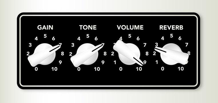 Guitar Ampifier Chicken Head Knobs