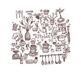 Set icone per la cucina