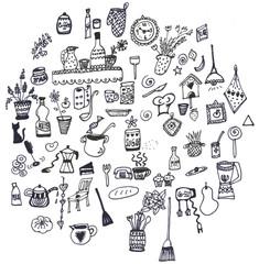 Set icone piccole  per la cucina