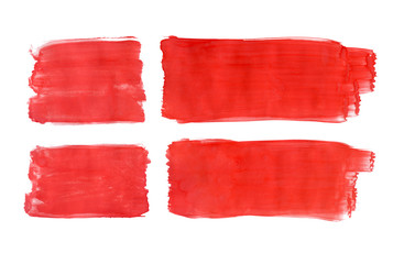 Danish flag painted with gouache